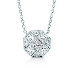 Tiffany & Co. | Item | Mosaic pendant in platinum with diamonds. | United States