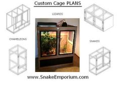 DIY Reptile Cage Plans | 10 DIY Reptile Cage Plans by Easy Download