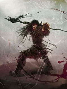 Some magic the gathering artwork, this is Sarkhan the mad