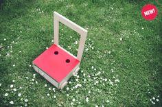 This is the new Glücksstuhl raspberry: the summer is here! Wooden Wheel, Keeping Secrets, Summer Is Here, Chair Design, Raspberry, Workshop, Handmade Gifts, Kids, Etsy