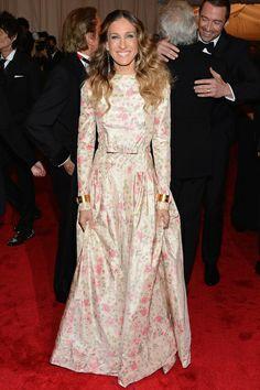 Sarah Jessica Parker en un vestido de Valentino