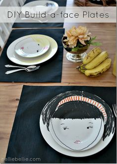 DIY DRAW A FACE PLATES (via http://www.nelliebellie.com/build-a-face-plates/)