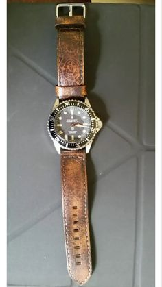 Steinhart Ocean One vintage Military with Leather band