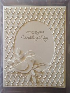 Monday, February 16, 2015 Greetings by Gosia: White on White Easter Card Oval Thinlitz, Fancy Fans TIEF, Bird Builder Punch, Silver EP, Occasional Quotes