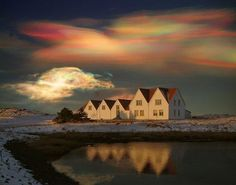 Very rare rainbow clouds in Greenland