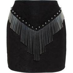 ANTHONY VACCARELLO Metal Tassel Mini Skirt (43 800 UAH) ❤ liked on Polyvore featuring skirts, mini skirts, embellished skirt, anthony vaccarello, sexy skirt, metal skirt en short mini skirts