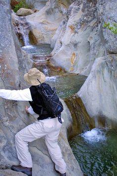 Seven Falls. 1.5 to 3 mile hike just east of Santa Barbara.