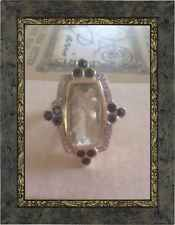 Older SHOPNBC Dallas Prince 14k Amethyst London Topz Diamond Ring 14 Grams !!!