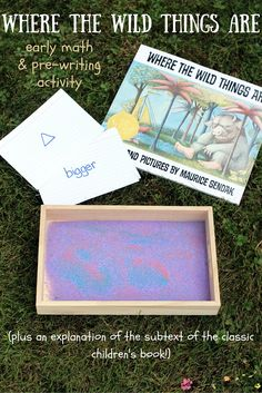 The Real Meaning Behind Where the Wild Things Are - and an early math and pre-writing activity using the Montessori Sand Tray