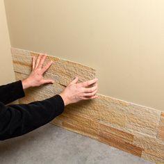 Aspect 24 in. x 6 in. Peel and Stick Stone Backsplash in Golden Sandstone