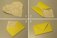 Maurine Anderson - Make an Envelope with a heart - Paper Crafts magazine #Christmas #thanksgiving #Holiday #quote
