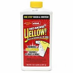 Review of Whink No More Yellow stain remover for those with clothes that get yellow, from rust, iron and hard water?