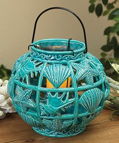 Look at this Round Seashell Lantern on #zulily today!