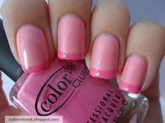 pink on pink french mani