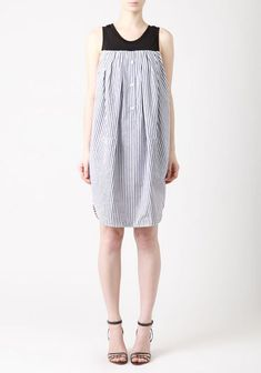 Viktor & Rolf Striped Cotton Tank Dress - just take the top of a tank top and the bottom of a mens work shirt-tada one of a kind dress!