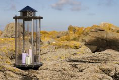 Beautiful outdoor lantern from Bornholm in stainless steel.