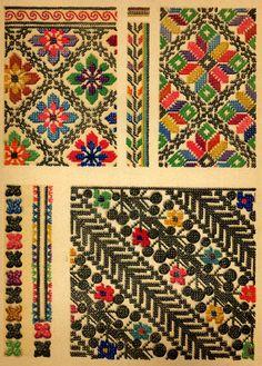 ukrainian folk embroidery: Ukrainian Folk Embroidery, I. F. Krasyts'ka, 1960, plate 8, embroidery of Ternopil' Oblast, plate 9, embroidery of Cherniwtsi oblast, plate 10, embroidery of Transcarpathian oblast