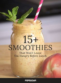 Don't skip the most important meal of the day with these smoothie recipes. They're perfect for on-the-go breakfasts, and won't leave you hungry before lunchtime.