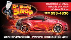 Diseño tarjeta de presentación. Cliente: D'Body Shop en Vega Baja