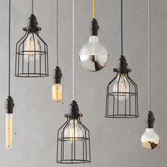 Utility Pendant Cage | Pendant Fixtures | Lighting -- For Utility Closet?