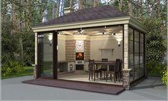 Летняя кухня на даче - строительство под ключ - зимняя кухня…