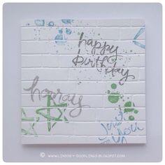 Stampin Up Watercolor Words, Brick Wall Embossing Folder