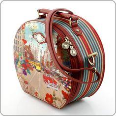 PiP Studio Women's Tasche Shoulder Bag Farbe: Bordeaux Multicolor - Maße: 25x22x12 cm.: Amazon.co.uk: Shoes & Bags