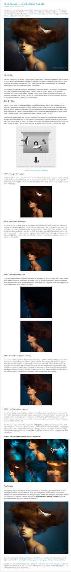Alexey & Julia - long exposure portraits tutorial