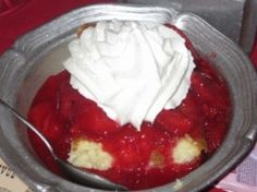 Strawberry Shortcake Recipe served at Hoop-Dee-Doo in Fort Wilderness Resort at Disney World