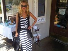 maxi-dress-rachel-zoe-balck-and-white-stripe