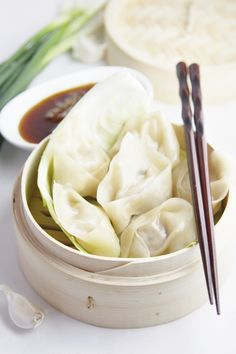 Ginger Pork Dumplings are good to make in advance and freeze for later