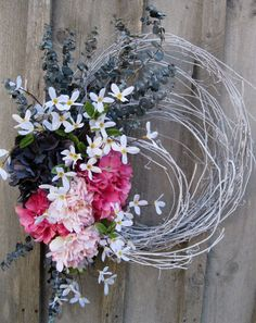Easter Spring Summer Charming Cottage Wreath by procelebrations,