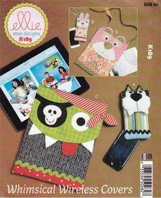 McCall s Ellie Mae Design 661 Kwik Sew Whimsical Wireless Covers Pattern Uncut Kwik Sew Patterns, Sewing Patterns For Kids, Sewing Projects For Kids, Craft Patterns, Pattern Grading, Tablet Cover, Tablets, Portfolio, Stuffed Toys Patterns