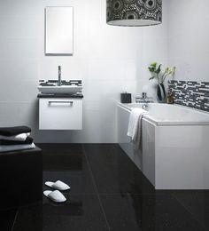 Seven Important Life Lessons Black Glitter Bathroom Floor Tiles Taught Us White Wall Tiles, White Bathroom Tiles, Bathroom Floor Tiles, Basement Bathroom, Bathroom Wall, White Walls, Tile Floor, Bathroom Ideas, Black Bathrooms