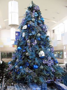 silver blue and crystal christmas tree decorations christmas tree sm makati makati - Blue Christmas Trees