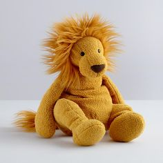 Kids' Stuffed Animals: Yellow Lion Plush Toy in Plush Toys