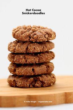 Hot Cocoa Snickerdoodles from Decadent Gluten-free Vegan Baking Book. Review + Giveaway | Vegan Richa