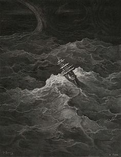 The Rime of the Ancient Mariner illustrated by Gustave Dore (1832 - 1883). Published in 1876.