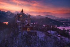 """the title means: """"the ice kings castle""""  think its time for a dreamy castle image at these cold days. it is from almost exactly last year with a temperature about -15°.  thanks for your thoughts and emotions!  I want to mention, that I actually have nice prints with free shipping at my website http://www.martin-pfister-photography.de/startseite/prints-2/  workshoptours+videotutorials+prints http://www.martin-pfister-photography.de/"""