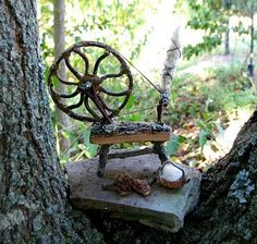 Spinning wheel ~Parsley, Page, Rosemary & Thyme