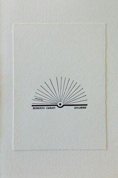Ex libris by Bruno Munari for Roberto Cerati woodcut by Adriano Porazzi (Ediz . Ex Libris, Branding Design, Logo Design, Graphic Design, Book Logo, Stamp Making, Love Tattoos, Letterpress, Book Worms