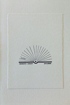 Ex libris di Bruno Munari per Roberto Cerati xilografia di Adriano Porazzi (Edizioni PulcinoElefante)