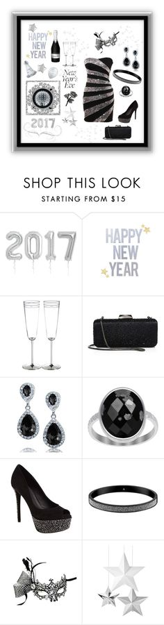 """""""Black and Silver  New Years Look"""" by mcronald-denise ❤ liked on Polyvore featuring Kate Spade, Saks Fifth Avenue Collection, Bling Jewelry, Brian Atwood, Black Swan, MAEVA, Masquerade and Angélique de Paris"""