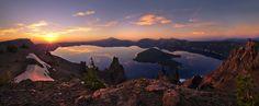 Crater Lake Panoramic photo