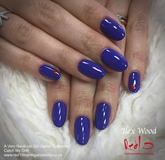 Blue Gelish - Catch my Drift - A Very Nauti-cal Girl Gelish Collection - Blue Nails - Nautical Nails