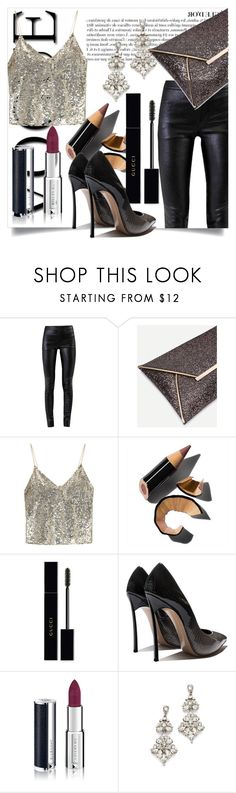 """#PolyPresents: Christmas Party Wish List"" by kira-marie-98 ❤ liked on Polyvore featuring Anja, Helmut Lang, Alice + Olivia, Bobbi Brown Cosmetics, Gucci, Givenchy, Ben-Amun, contestentry and polyPresents"