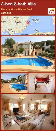 3-bed 2-bath Villa in Moraira, Costa Blanca, Spain ►€399,000 #PropertyForSaleInSpain