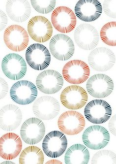 ideas: color swatches (Lovely Umbrella Prints pattern by Carly) Pattern Dots, Doodle Pattern, Circle Pattern, Vector Pattern, Motifs Organiques, Motifs Textiles, Textile Patterns, Pretty Patterns, Beautiful Patterns
