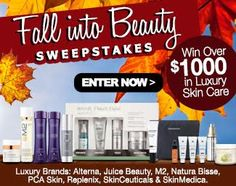 Fall Into Beauty Sweepstakes : Win Over $1,000 in Luxury Skin Care Products!
