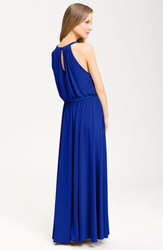 love this color for summer maxi dress